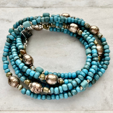 Bibire Wrap - Ghanaian Handmade Glass Beads