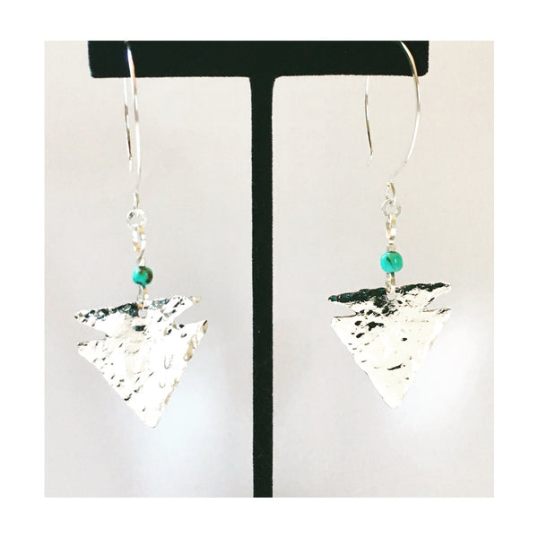KINGMAN MINE TURQUOISE Arrowhead Earrings