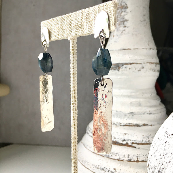 TREEZA WITH INTENTION Kyanite Sterling Silver Earrings