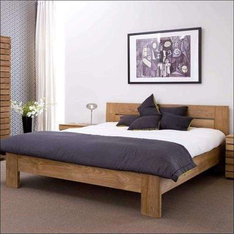 TimberCraft Beds Contemporary Indian Teak wood bed TBD-1001