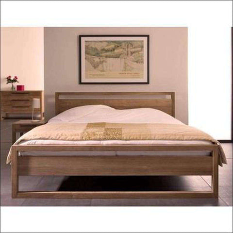 TimberCraft Beds Light frame Solid Teak Wood Bed TBD-1401