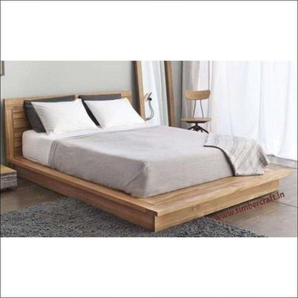 TimberCraft Beds Platform Bed With Solid Teak Construction