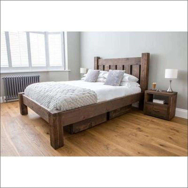 TimberCraft Beds Solid Wood Rustic Farm House Bed