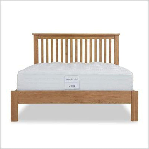 TimberCraft Beds Wooden Bed With Slatted Headboard