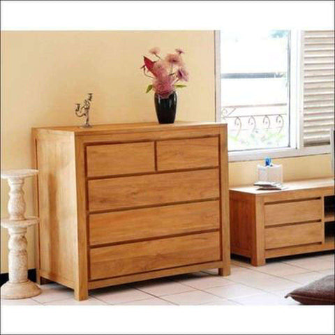 TimberCraft Chest Of Drawer Teak Chest Of Drawers TCD-1001