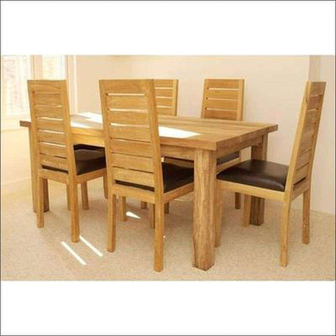 TimberCraft Dining Sets Indian Teak Wood  Contemporary Dining Table Set TDT-2401