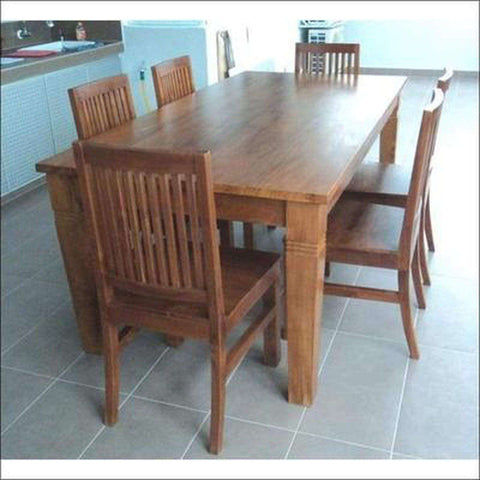 TimberCraft Dining Sets Teak Wood Dining Room Table & Chairs Set TDT-1901