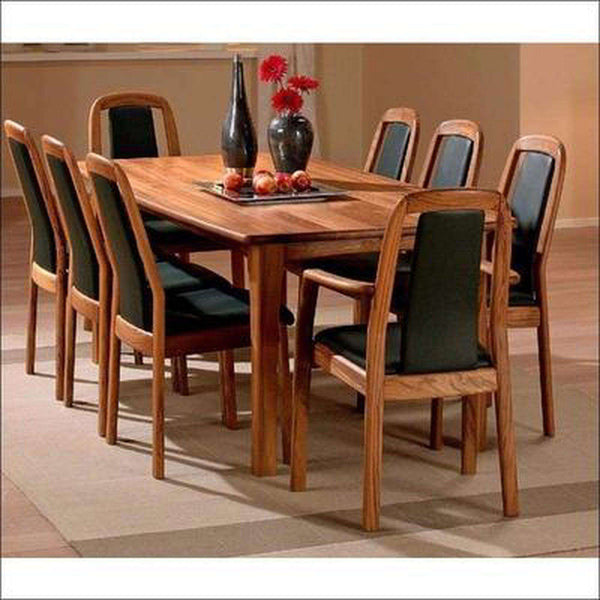TimberCraft Dining Sets Teak Wood Dining Table With 8 Teak Chairs TDT-2601