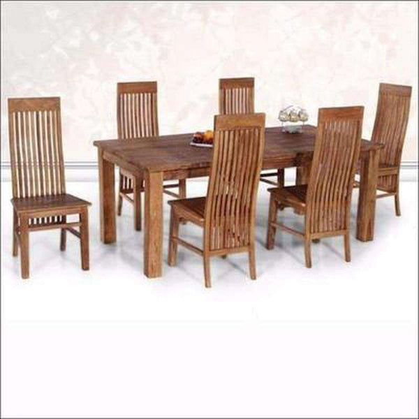 TimberCraft Dining Sets Teak Wood  Rustic Dining Table Set TDT-2701