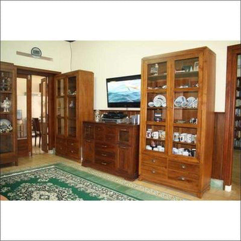 TimberCraft Display Unit Teak Display Cabinet TDC-1005