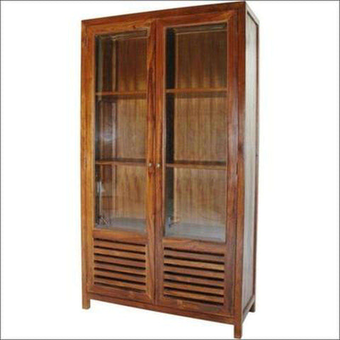 TimberCraft Display Unit Teak Wood Display Cabinet TDC-1003