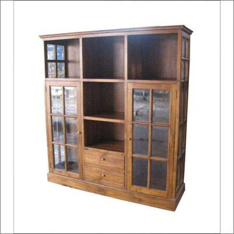 TimberCraft Display Unit Teak Wood Display Cabinet TDC-1004