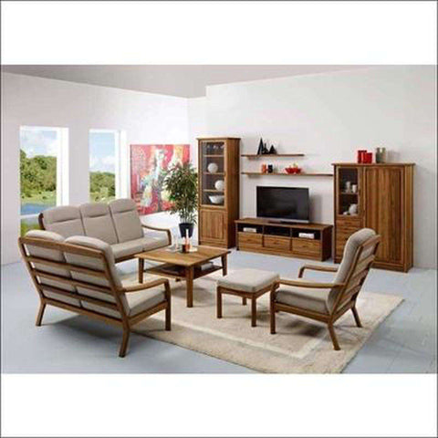 TimberCraft Sofas 3+1+1 Danish Teak Wood Sofa Set