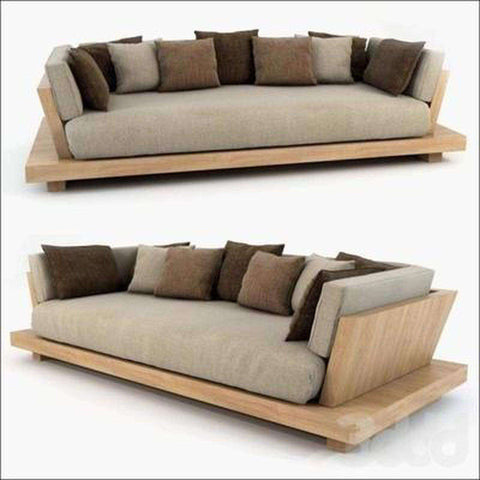 TimberCraft Sofas Teak Wood Low Sofa TSF-1701