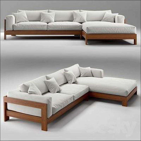 TimberCraft Sofas Teak Wood Sofa Set TSF-2301
