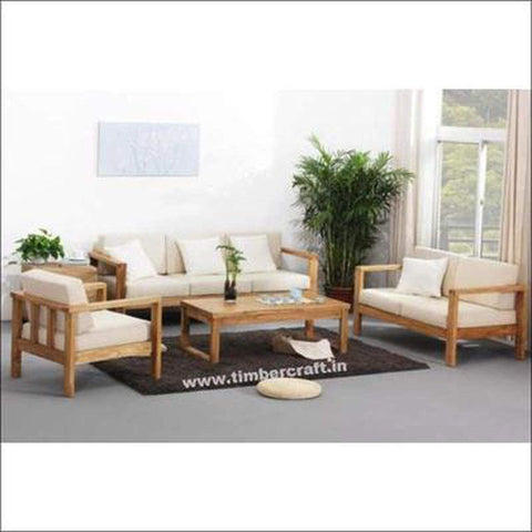 TimberCraft Sofas Teak Wood Sofa Set TSF-2601