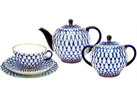 Tea set Tulip The Cobalt Net 6/20