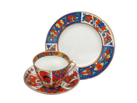 3 piece tea set Spring Traditional Patterns