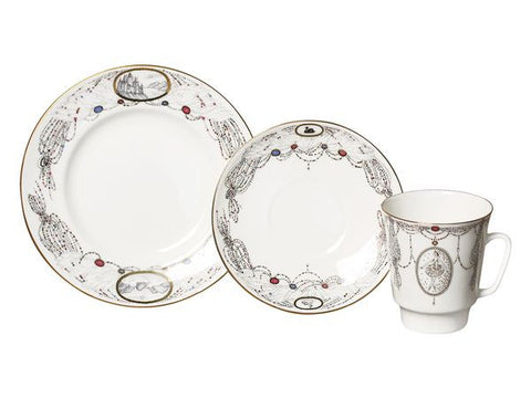 3 piece tea set Swan Lake
