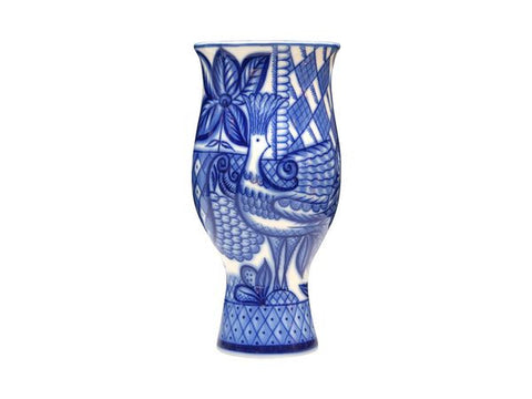 Vase Flower  Blue Bird