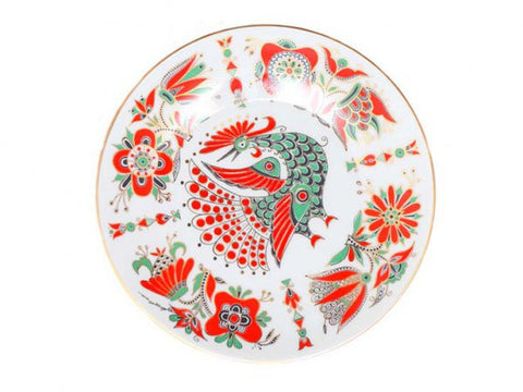 Decorative plate Ellipse Red Bird