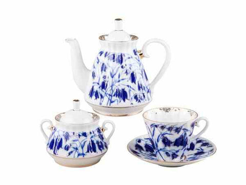 Tea set Radial Bluebells 6/20