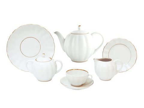 Tea set Tulip Snow White 6/20