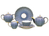 Tea set Tulip Cobalt Cell 6/20