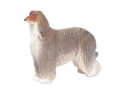 Figurine dog Afghan Hound Gray