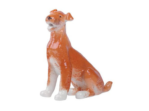Porcelain Dog Figurine Airdale