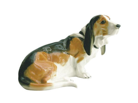 Porcelain Dog Figurine Basset