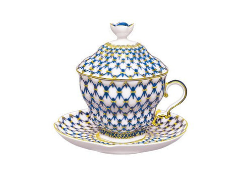 Covered cup & saucer Gift 2 The Cobalt Net