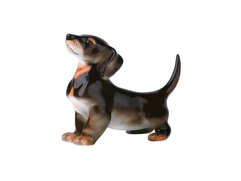 Porcelain Dog Figurine Dachshund