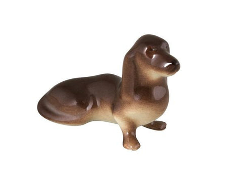 Porcelain Dog Figurine Dachshund small
