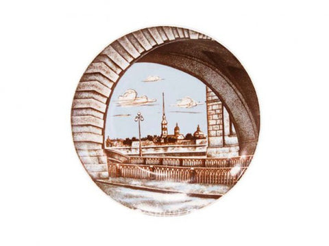 Decorative Plate Ellipse Winter Trench