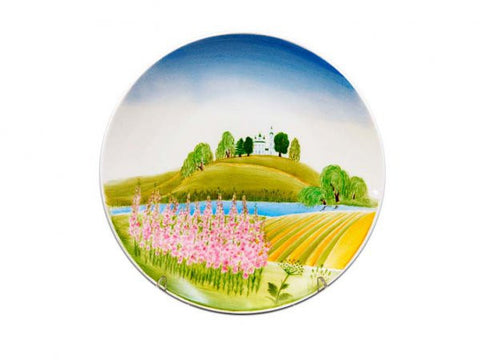 Decorative Plate Ellipse Willow-weed