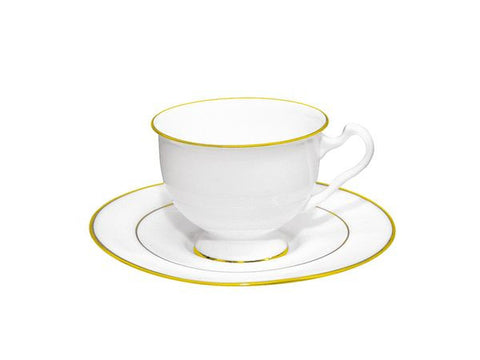 Cup & Saucer Isadora Gold Edging 1/2