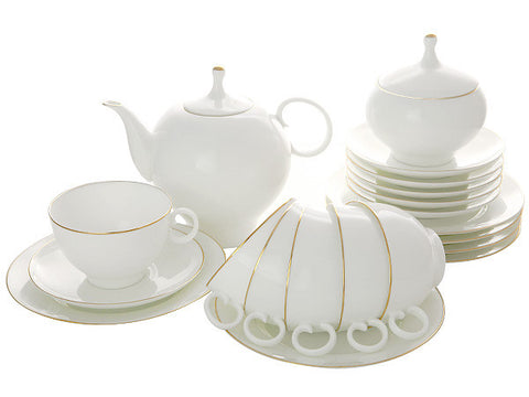 Tea set Apple Golden Edging 6 / 20
