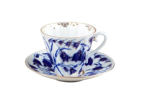 Tea cup & saucer Radial Bluebells 1/2