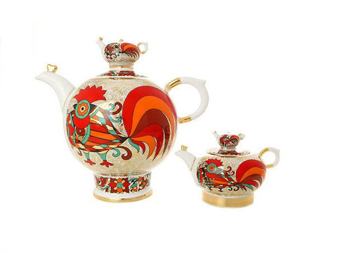 Teapot Family The Red Rooster