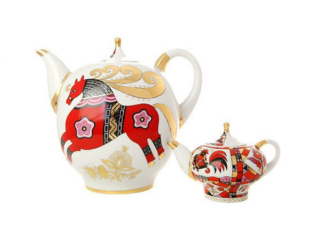 Teapot set Family The Red Horse