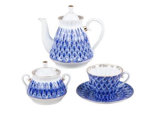 Tea set Radial Forget-me-not 6/20