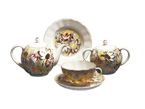 Tea set Tulip Gold Chamomile 6/20