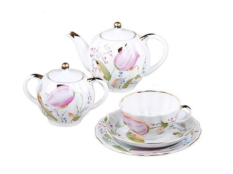 Tea set Tulip Pink Tulips 6/20