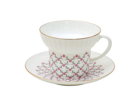 Cup & saucer Wave Rose Net 1/2