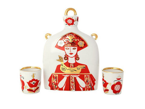 Decanter Set Slavic Female