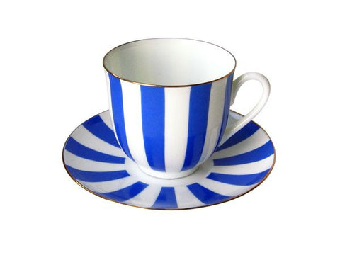 Cup & saucer Yes and No Cobalt