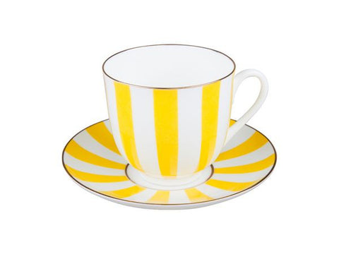 Cup & Saucer Yes and No yellow