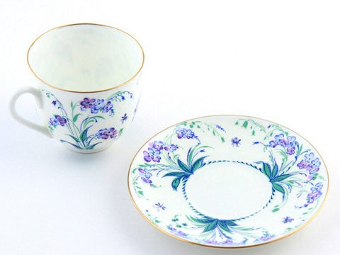 Cup & saucer  Lily of valley Forget me not 1/2