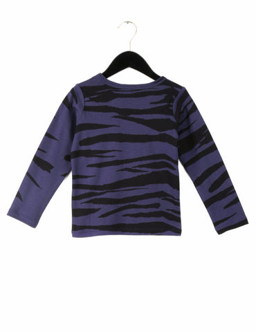 Tiger stribet langærmet T-shirt, Mini Rodini